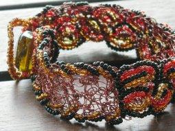 My first detailed wire crochet bracelet