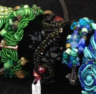 Wire crochet bracelets